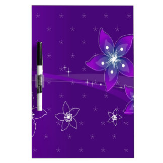 Abstract Flowers Purple Various Dry-Erase Whiteboard