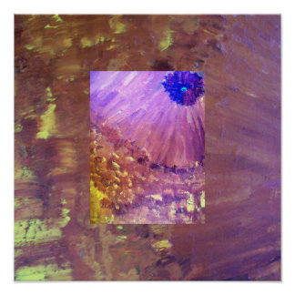 ABSTRACT FLOWERS REFLECTIONS POSTER