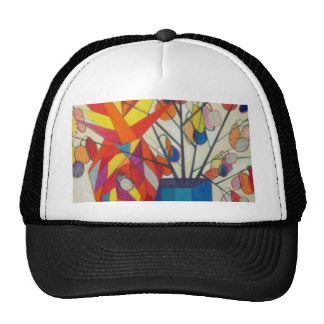 abstract flowers trucker hats