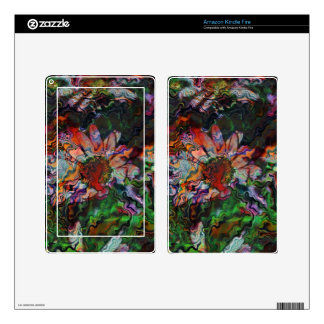 Abstract Flowers (U) Decal For Kindle Fire