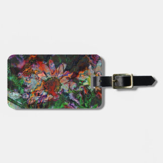 Abstract Flowers (U) Luggage Tag