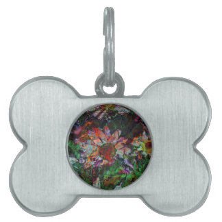 Abstract Flowers (U) Pet ID Tag