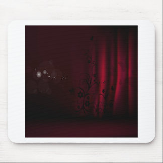Abstract Flowers Warm Colors Curtain Butterfly Mouse Pad