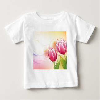 Abstract Flowers Warm Colors Gem Tulip Baby T-Shirt