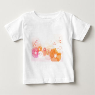 abstract flowers warm colors leaf splash baby T-Shirt