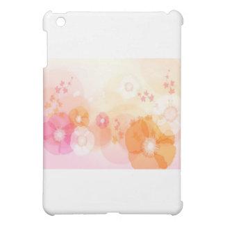 abstract flowers warm colors leaf splash iPad mini covers