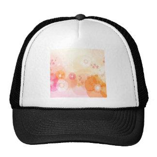 Abstract Flowers Warm Colors Leaf Splash Trucker Hat