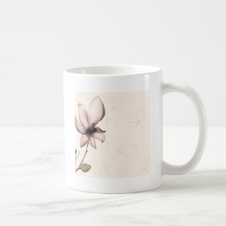 Abstract Flowers Warm Colors Pip Classic White Coffee Mug