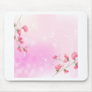 Abstract Flowers Warm Colors Romance Abstract Mouse Pad