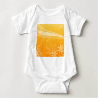 Abstract Flowers Warm Colors Sky Baby Bodysuit