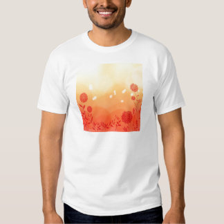 Abstract Flowers Warm Colors Spring Splash T-Shirt
