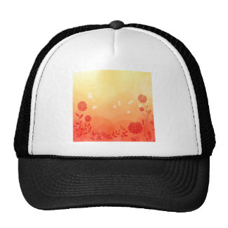 Abstract Flowers Warm Colors Spring Splash Trucker Hat