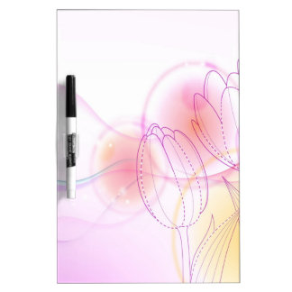 Abstract Flowers Warm Colors Tulip Sketch Dry-Erase Boards