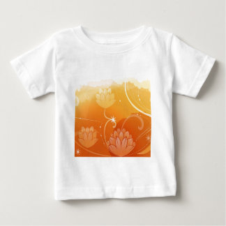 Abstract Flowers Warm Colors Water Lilly Baby T-Shirt