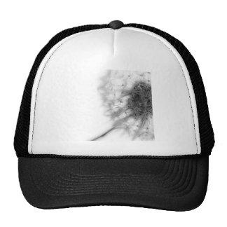 Abstract Flowers White Dandelion Grey Trucker Hat