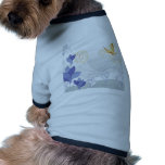 Abstract Flowers White Nature Dog Clothing