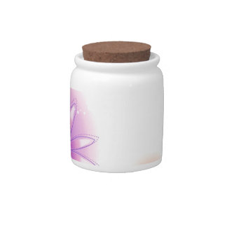 Abstract Flowers White Splash Candy Dishes