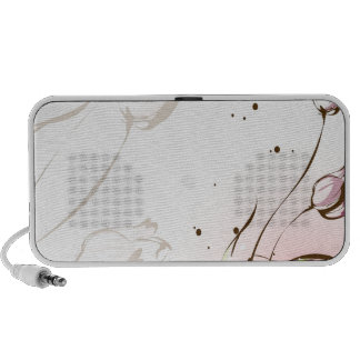 Abstract Flowers White Tulip iPhone Speakers