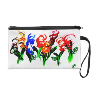abstract flowers wristlets