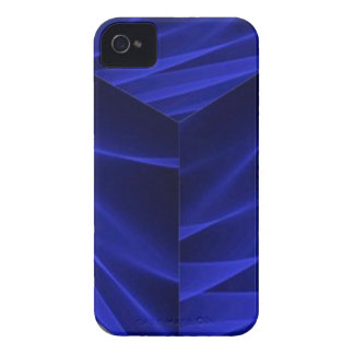 Abstract flux BLUE crimson 3d cube iPhone 4 Cover