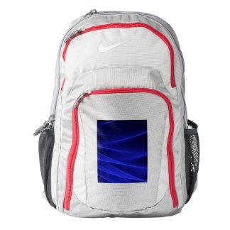Abstract flux BLUE crimson Nike Backpack