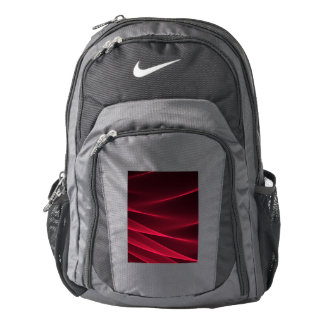 Abstract flux red crimson backpack