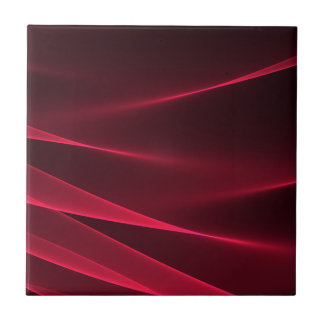 Abstract flux red crimson ceramic tile