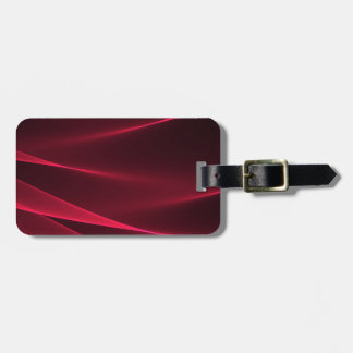 Abstract flux red crimson.jpg luggage tag