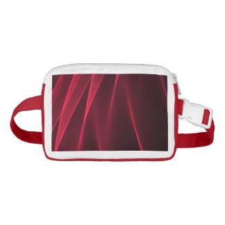 Abstract flux red crimson waist bag