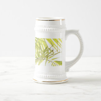 Abstract foliage beer stein
