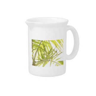 Abstract foliage drink pitcher