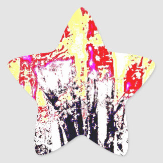 Abstract Forest Colors Star Sticker