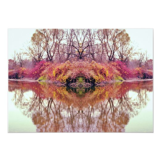Abstract Forest Creek Reflection Card