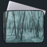 "Abstract forest laptop sleeve<br><div class=""desc"">A laptop sleeve with an abstract forest design.</div>"