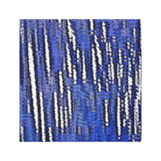Abstract Forest-Royal Blue Canvas Print
