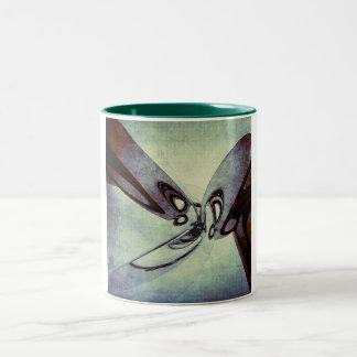 Abstract Form 6 Two-Tone Coffee Mug