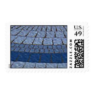 Abstract Fountain tile lines Stamp