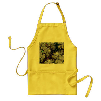 Abstract Fractal Apron:  Fiery Caverns Adult Apron