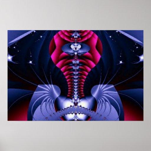 abstract fractal art (5) poster