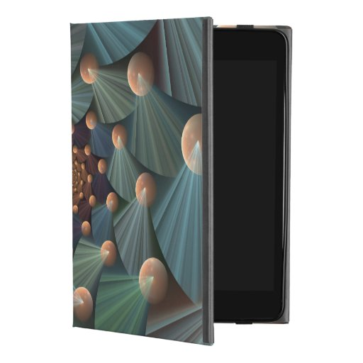 Abstract Fractal Art With Depth Brown Slate Blue iPad Mini 4 Case