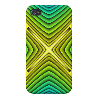 """Abstract Fractal Art """"X"""" for the 4 iPhone 4 Cover"""