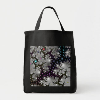 Abstract Fractal Bag:  Fiery Caverns Grocery Tote Bag