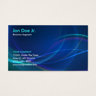 Abstract fractal business card