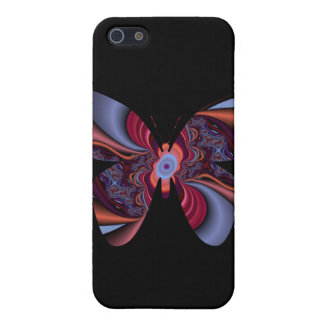 abstract fractal butterlfy on black cases for iPhone 5
