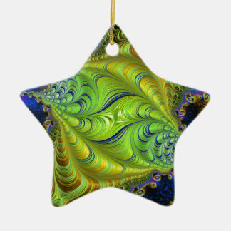Abstract fractal cuff RNS and shapes. Fractal kind Ceramic Ornament