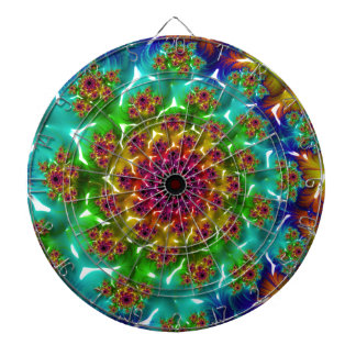 Abstract fractal cuff RNS and shapes. Fractal kind Dartboard With Darts