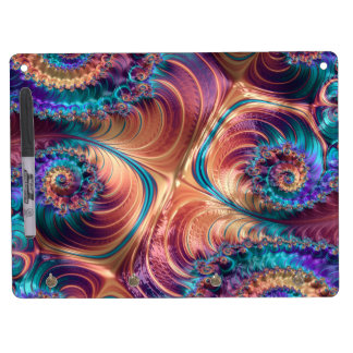 Abstract fractal cuff RNS and shapes. Fractal kind Dry Erase Board With Keychain Holder