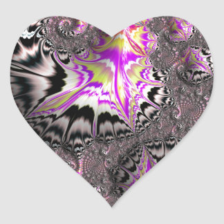 Abstract fractal cuff RNS and shapes. Fractal kind Heart Sticker
