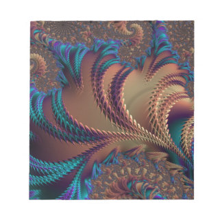 Abstract fractal cuff RNS and shapes. Fractal kind Notepad