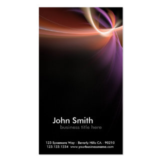 abstract fractal design business card